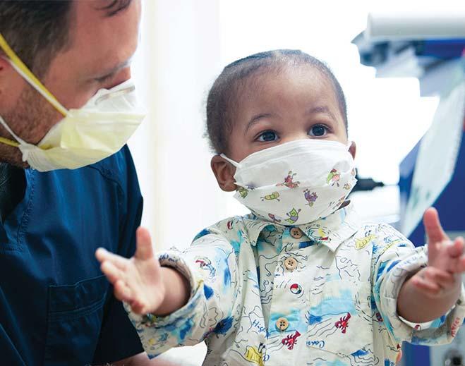 baby with nurse